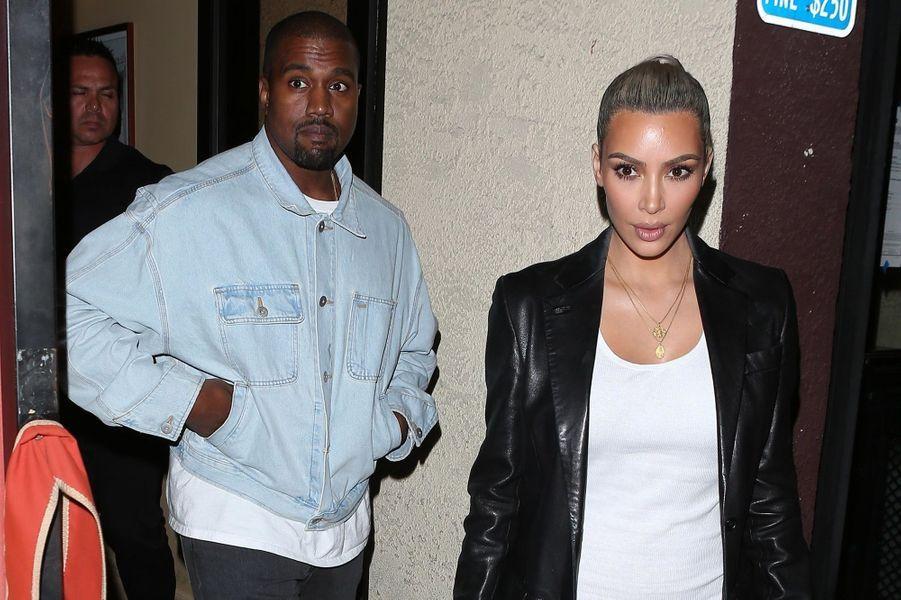 Kim Kardashian et Kanye West au Carousel, à Los Angeles, pour les 37 ans de la reine du clan.