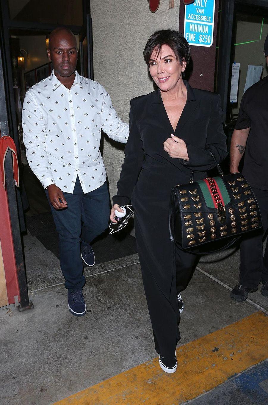 Kris Jenner à l'anniversaire de Kim Kardashian, le 26 octobre 2017.