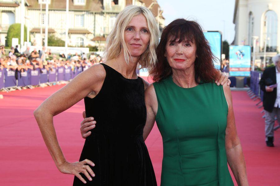 Sandrine Kiberlain et Sabine Azéma lors de l'ouverture du 44e Festival de Deauville.