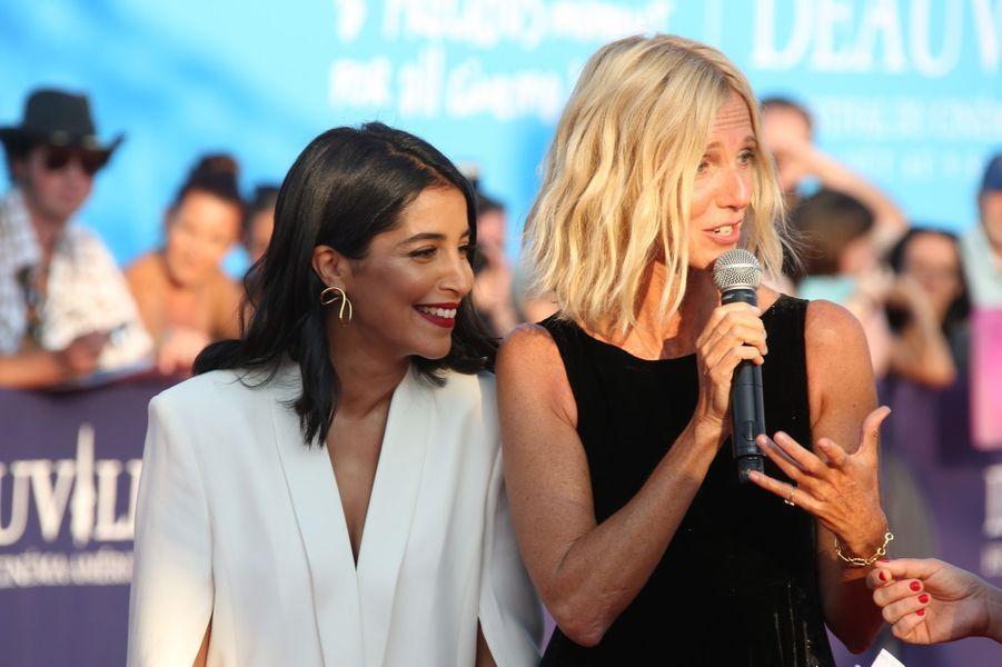 Leïla Bekhti et Sandrine Kiberlain lors de l'ouverture du 44e Festival de Deauville.