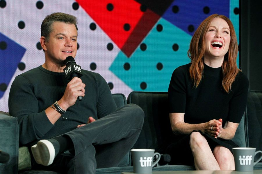 Matt Damon et Julianne Mooreau Festival de Toronto