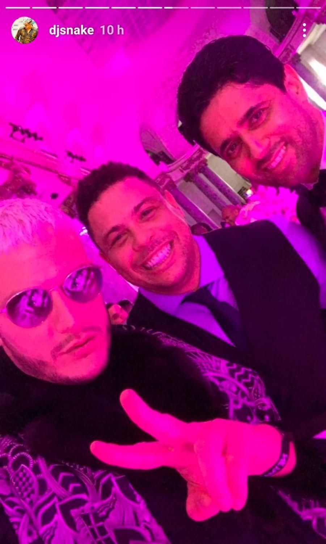 Nasser Al-Khelaïfi, Ronaldo et DJ Snake