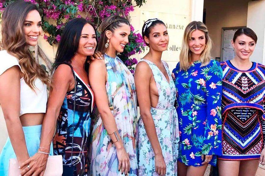 Les anciennes Miss France et Iris Mittenaere au mariage de Sylvie Tellier