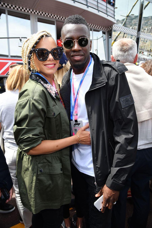 Blaise Matuidi et sa femme Isabelle au Grand Prix de Formule 1 de Monaco le 26 mai 2019
