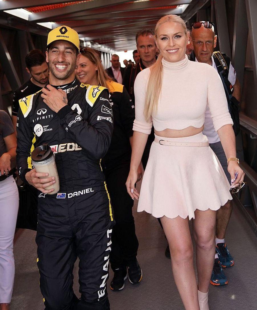 Daniel Ricciardo etLindsey Vonnau Grand Prix de Formule 1 de Monaco le 25 mai 2019