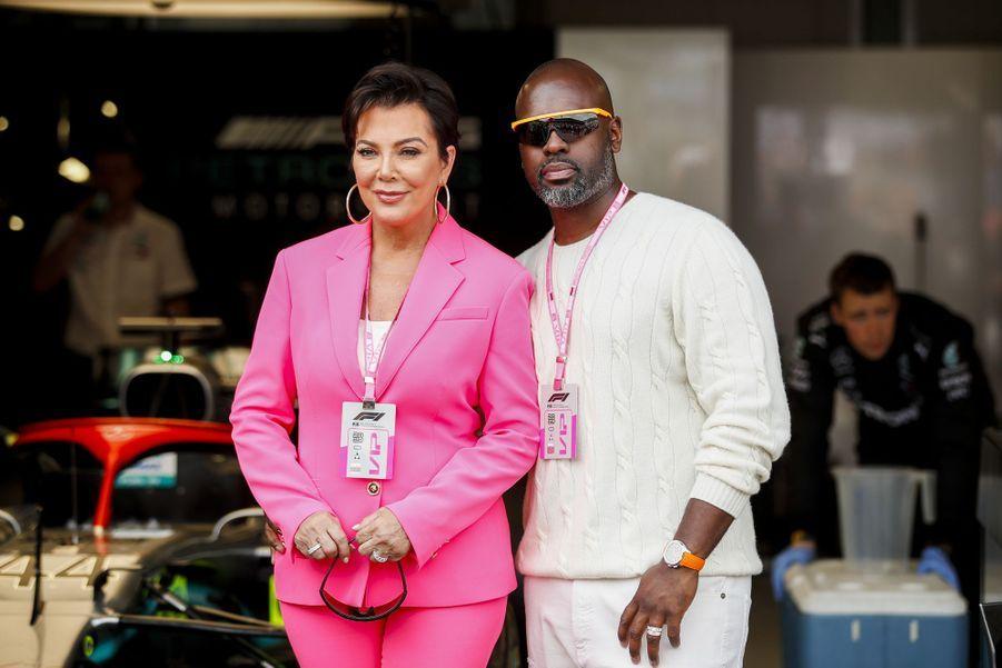 Kris Jenner et son compagnon Corey Gamble auGrand Prix de Formule 1 de Monaco le 26 mai 2019