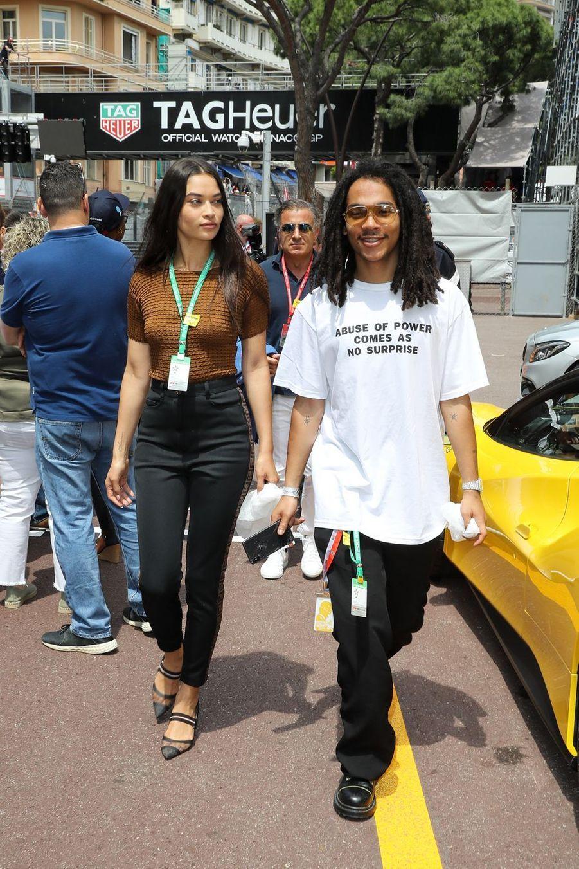 Shanina Shaik et Luka Sabbat au Grand Prix de Formule 1 de Monaco le 25 mai 2019