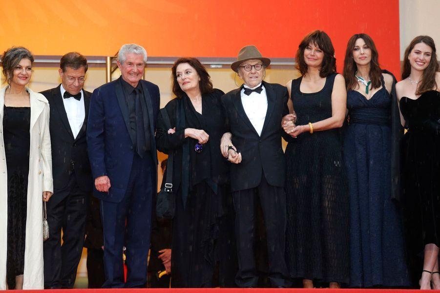 L'équipe du film «Les Plus belles années d'une vie» aux côtés de Claude Lelouch.