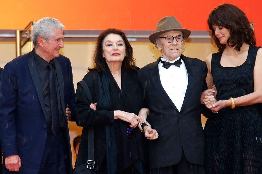 Claude Lelouch, Anouk Aimé, Jean-Louis Trintignant et Marianne Denicourt.