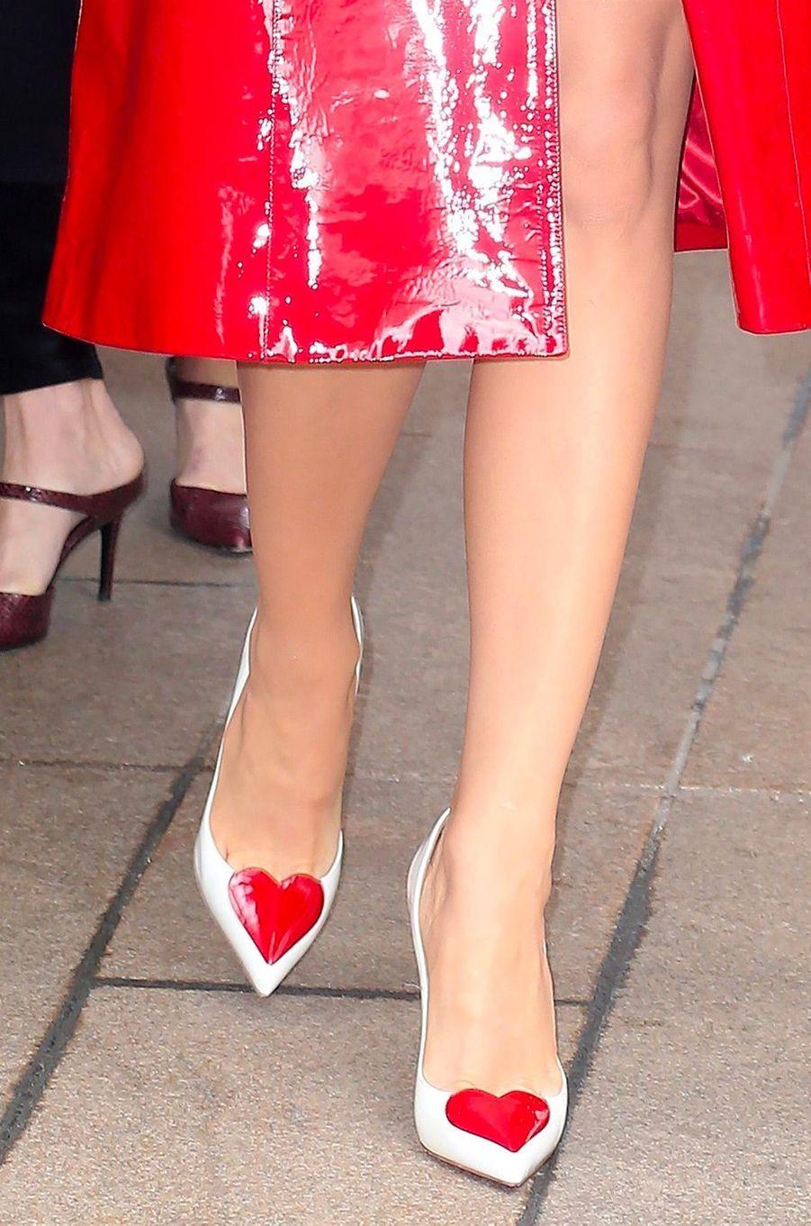 Les chaussures deBlake Lively avant le défilé Michael Korsà New York