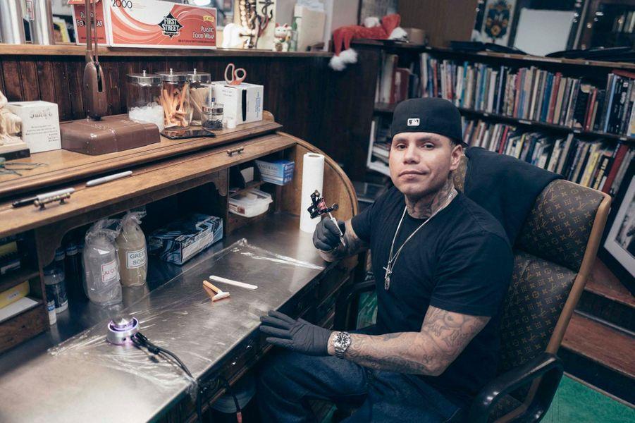 Isaiah Negrete l'autre tatoueur de Johnny Hallyday chez Shamrock