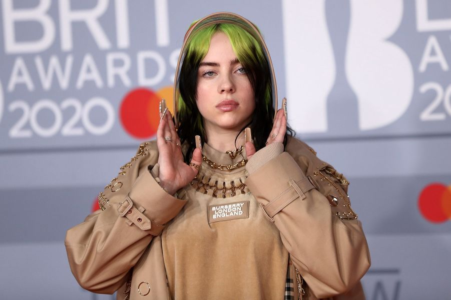 Billie Eilish aux Brit Awards à Londres le 18 février 2020