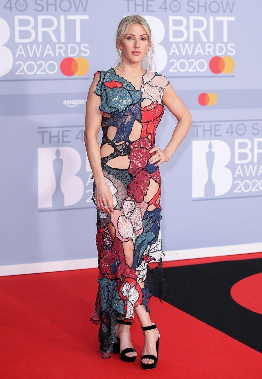 Ellie Goulding aux Brit Awards à Londres le 18 février 2020