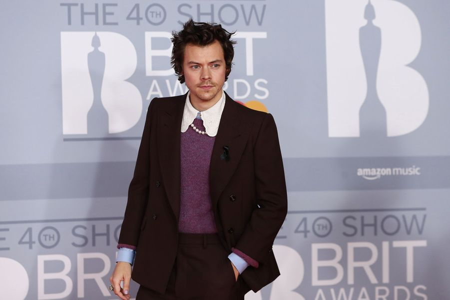 Harry Styles aux Brit Awards à Londres le 18 février 2020