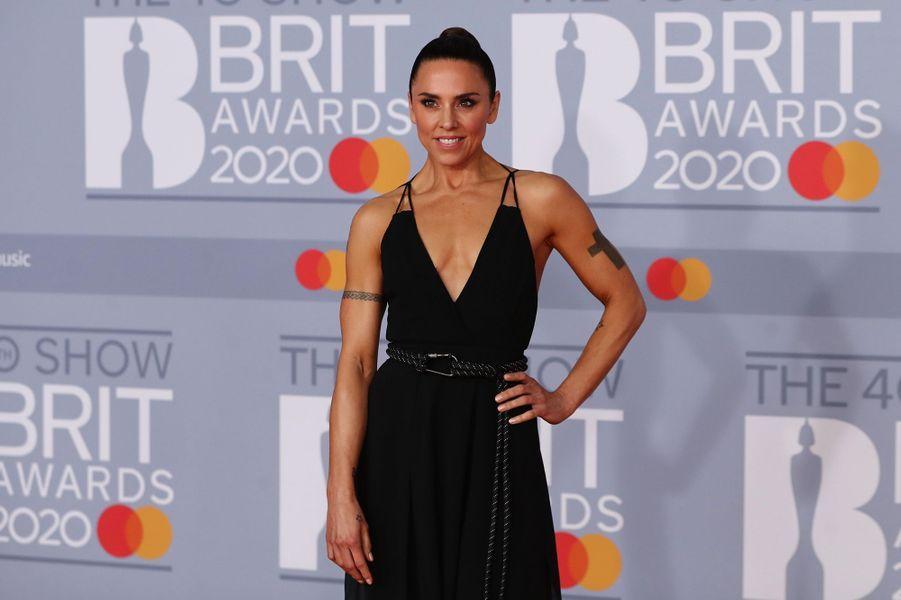 Melanie Chisholmaux Brit Awards à Londres le 18 février 2020
