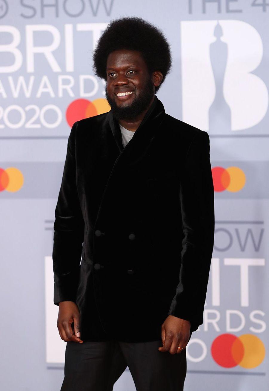 Michael Kiwanukaaux Brit Awards à Londres le 18 février 2020