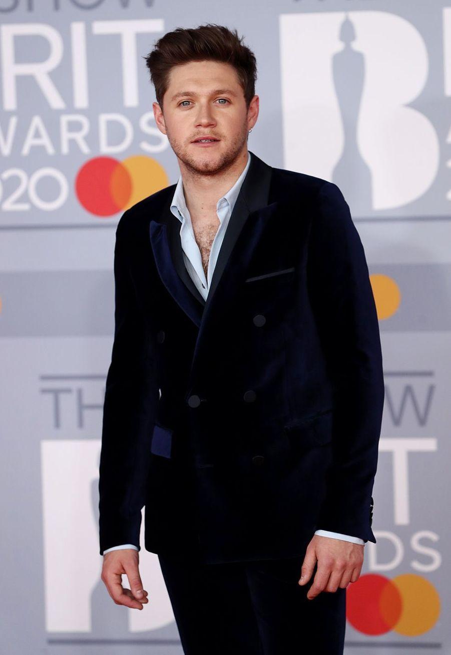 Niall Horanaux Brit Awards à Londres le 18 février 2020