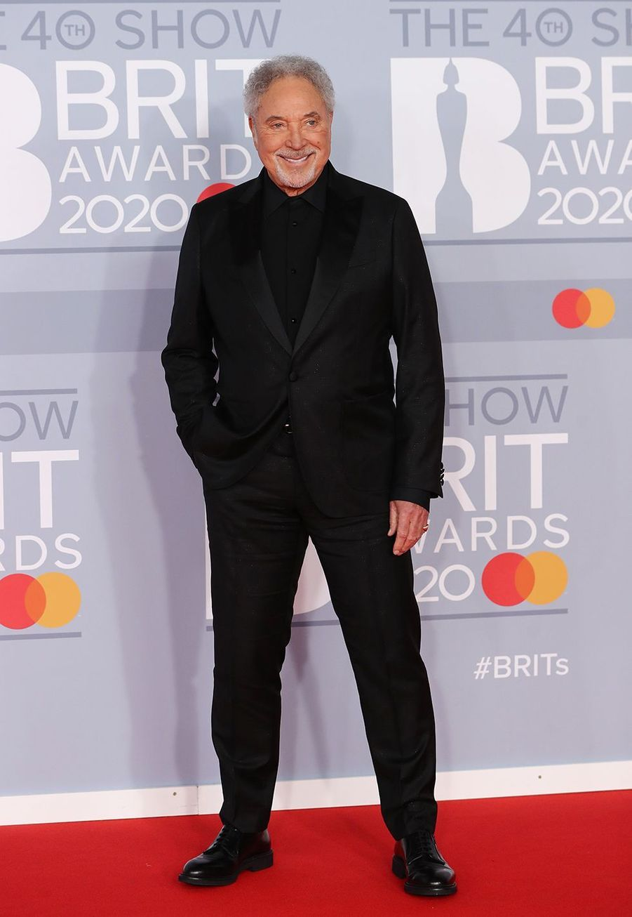 Tom Jones aux Brit Awards à Londres le 18 février 2020