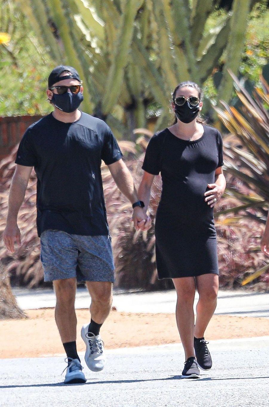 Lea Michele avec son mari Zandy Reich et sa mère Edith à Los Angeles le 20 juillet 2020