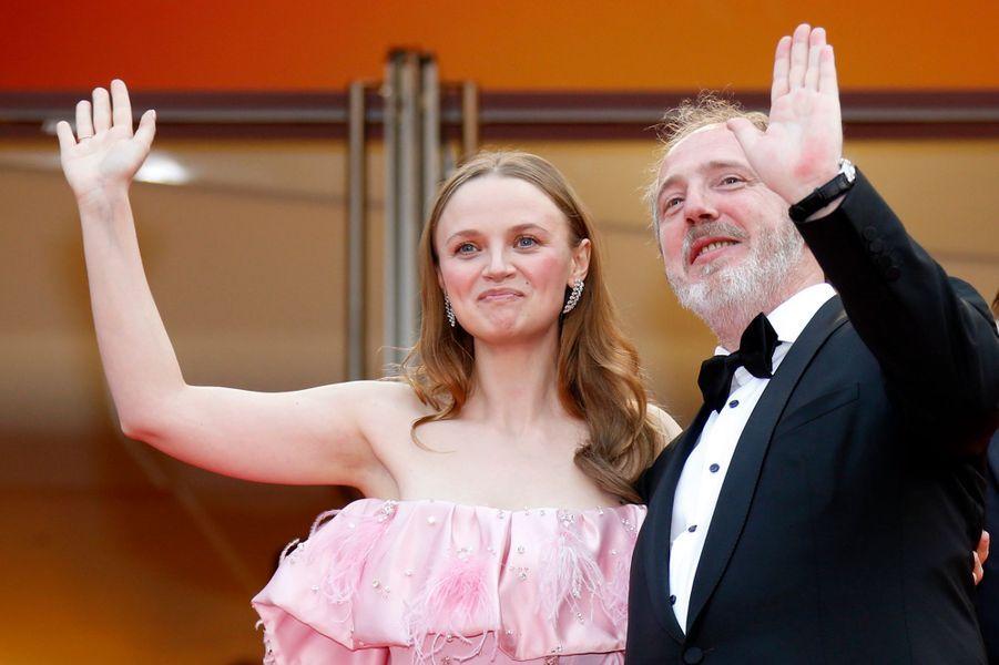 Sara Forestier (bijoux Messika)et Arnaud Desplechin.