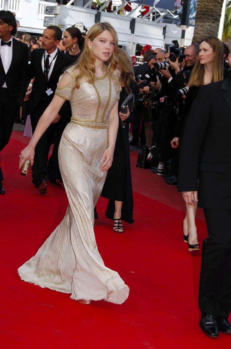 Léa Seydoux au Festival de Cannes le 14 mai 2010 en Gucci
