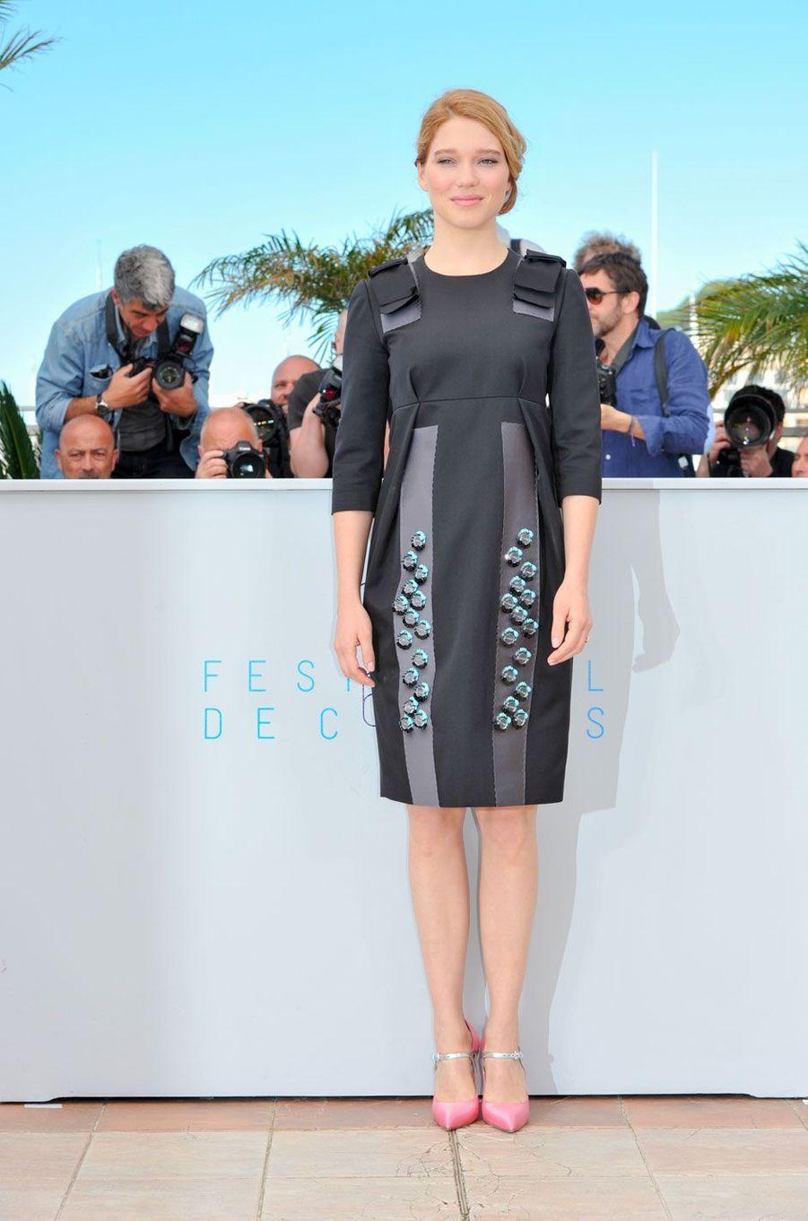 Léa Seydoux au Festival de Cannes le 15 mai 2015 en Prada