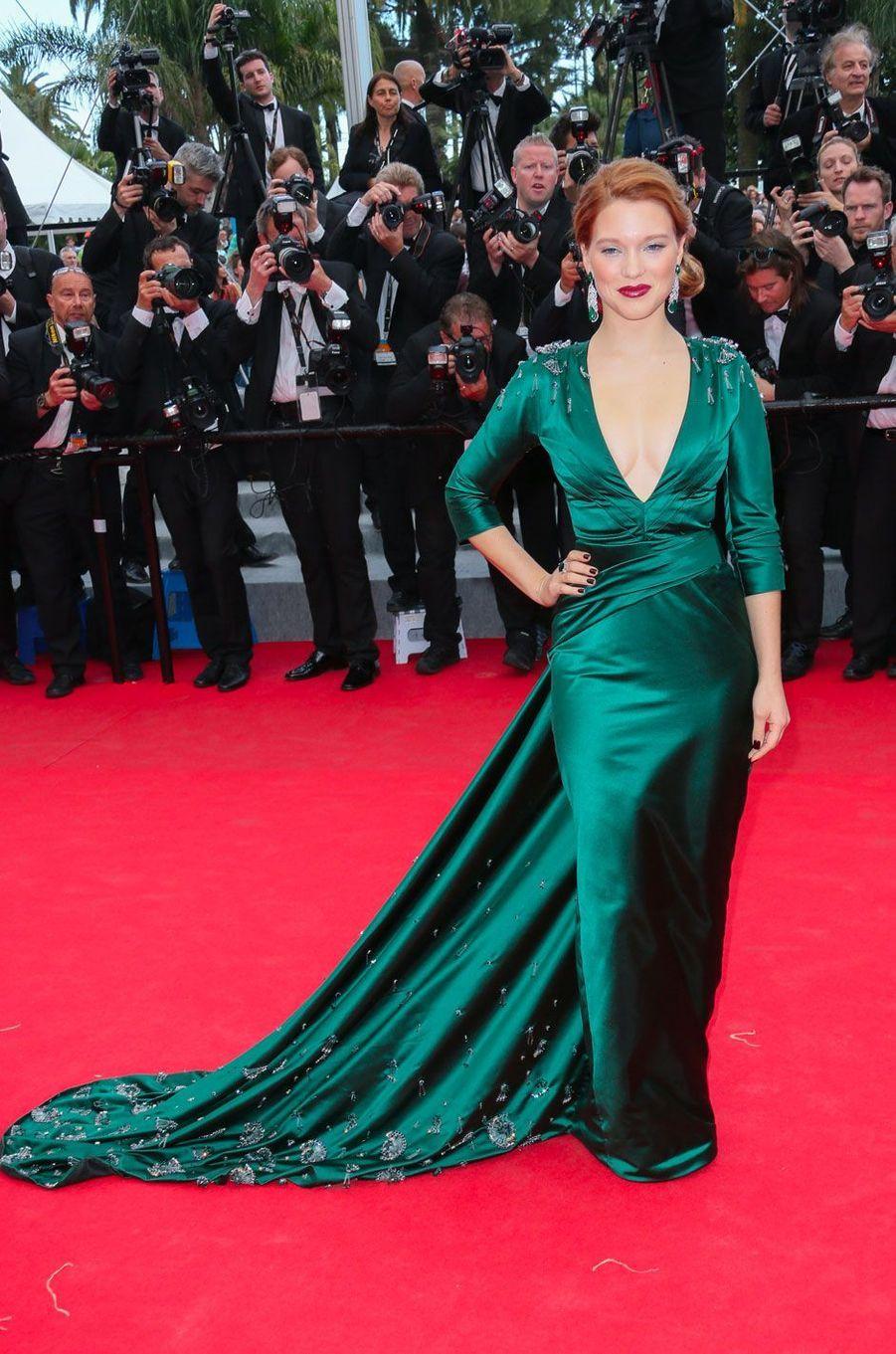 Léa Seydoux au Festival de Cannes le 17 mai 2014 en Prada