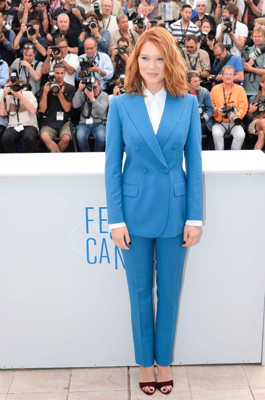 Léa Seydoux au Festival de Cannes le17 mai 2014 en Prada