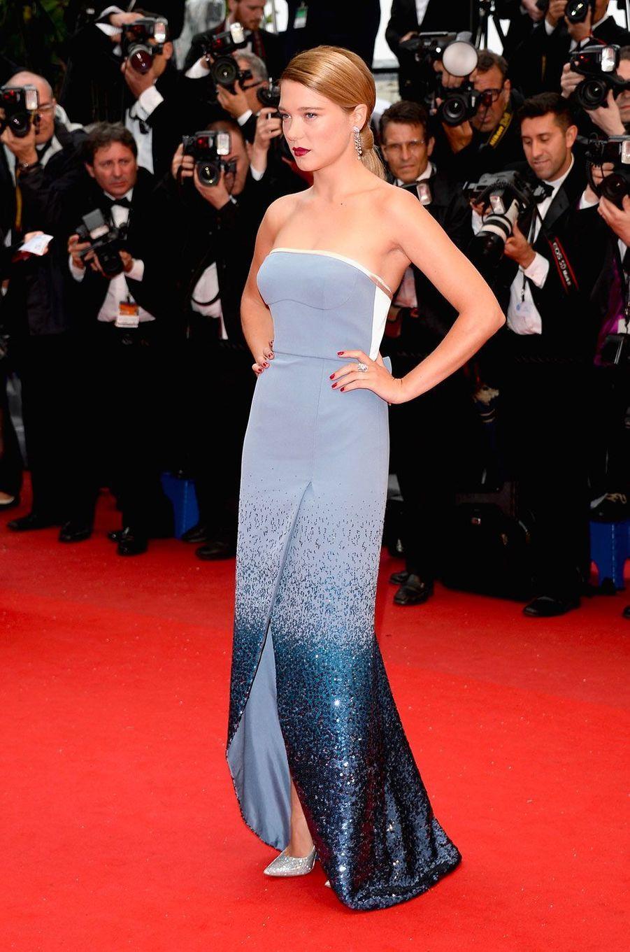 Léa Seydoux au Festival de Cannes le 18 mai 2013 en Louis Vuitton