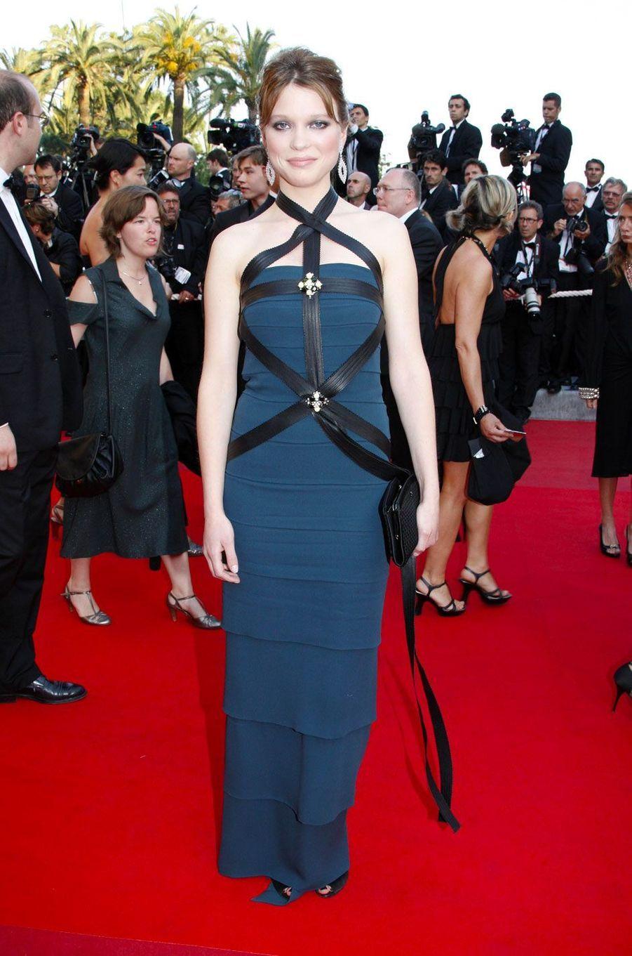 Léa Seydoux au Festival de Cannes le 19 mai 2009 en Chanel