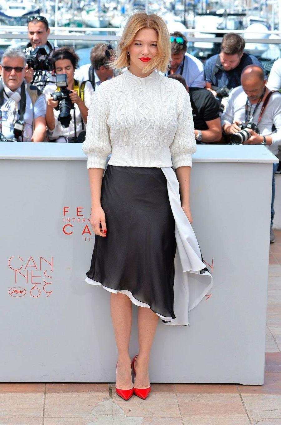 Léa Seydoux au Festival de Cannes le 19 mai 2016