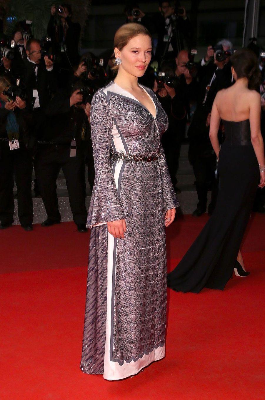 Léa Seydoux au Festival de Cannes le 19 mai 2016 en Louis Vuitton