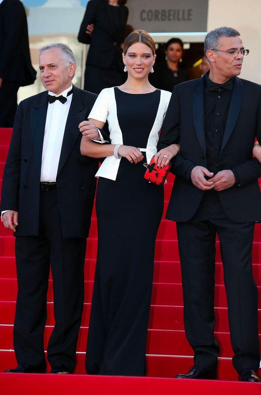 Léa Seydoux au Festival de Cannes le 26 mai 2013 en Maxime Simoëns