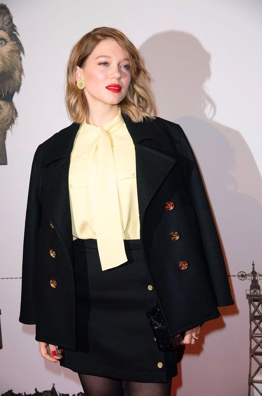 """Léa Seydoux à l'avant-première de """"L'île aux chiens"""" à Paris"""