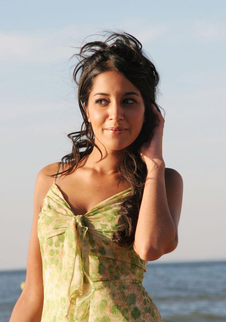 Leïla Bekhti à Cabourg le 9 juin 2006