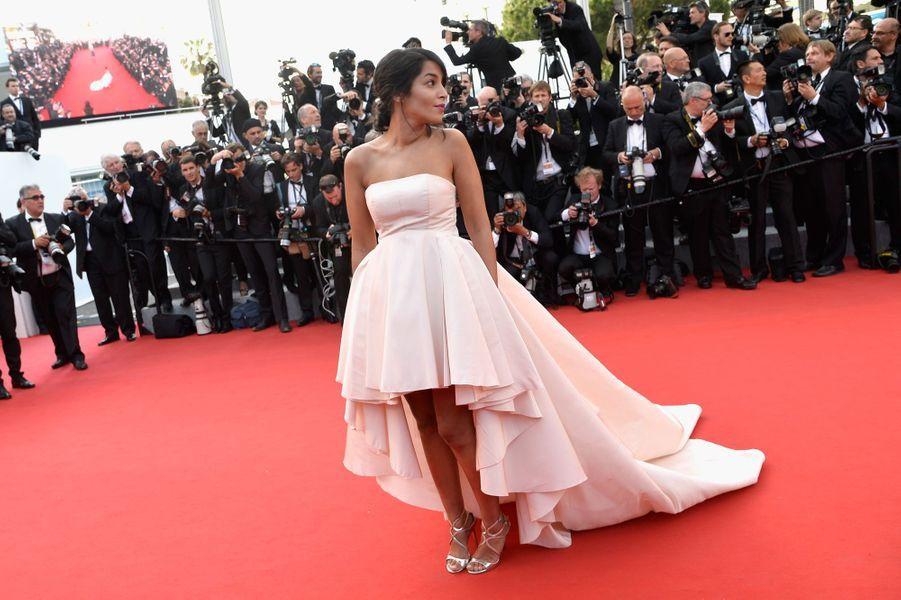 Leïla Bekthi lors de l'ouverture de cérémonie du 68ème Festival de Cannes.