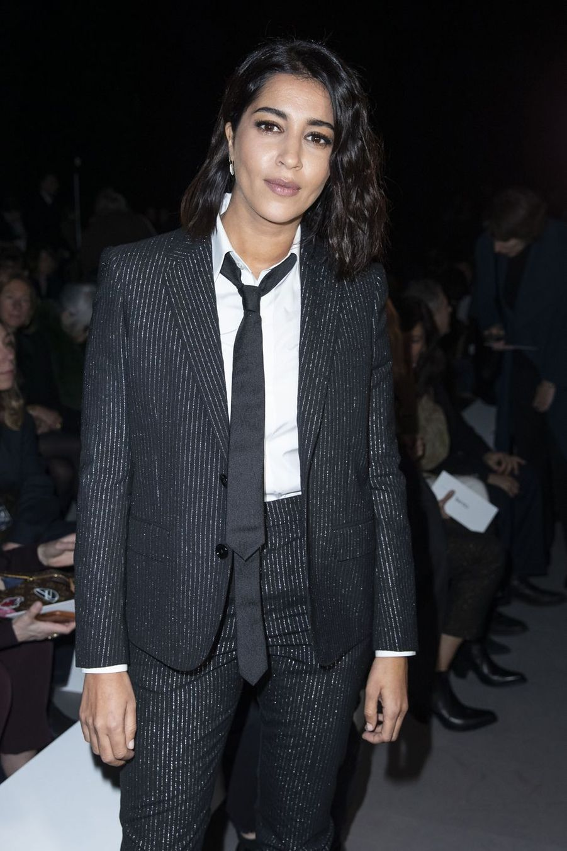Leïla Bekhti au défilé de mode Prêt-à-Porter automne-hiver 2019/2020 «Celine» à Paris. Le 1er mars 2019.