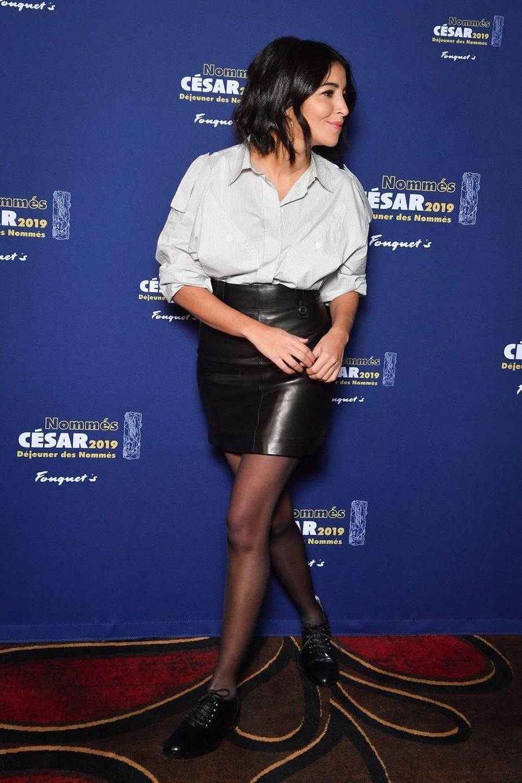 Leïla Bekhti au déjeuner des nominés César 2019 le 03 février 2019 à Paris.