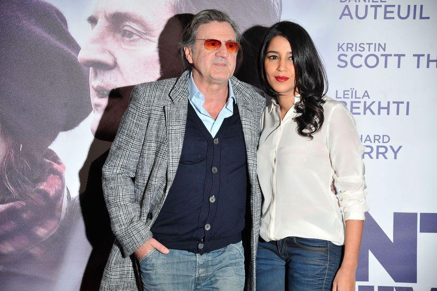 Leïla Bekhti et Daniel Auteuil à l'avant première du film 'Avant l'hiver' au Cinéma UGC Les Halles à Paris le 25 novembre 2013.