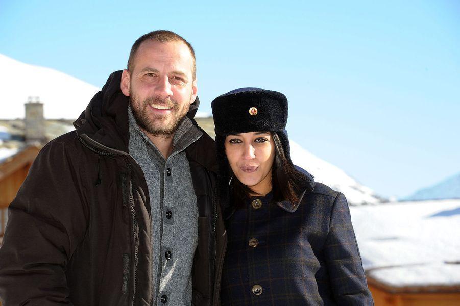 Leïla Bekhti et Fred Testotau 14ème festival du film de L'Alpe D'Huez le 20 janvier 2011.