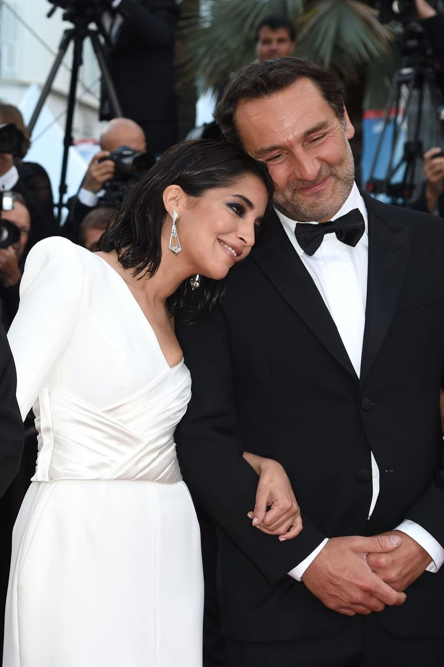 Leïla Bekhti et Gilles Lellouche au Festival de Cannes en 2018.