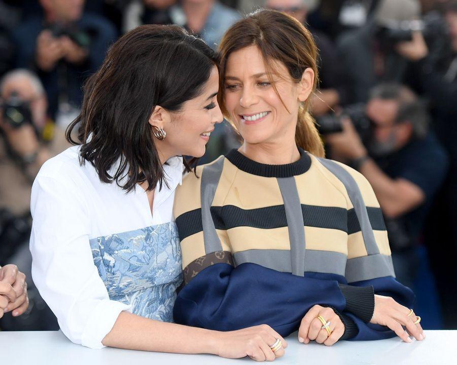 Leïla Bekhti et Marina Fois à Cannes en 2018.