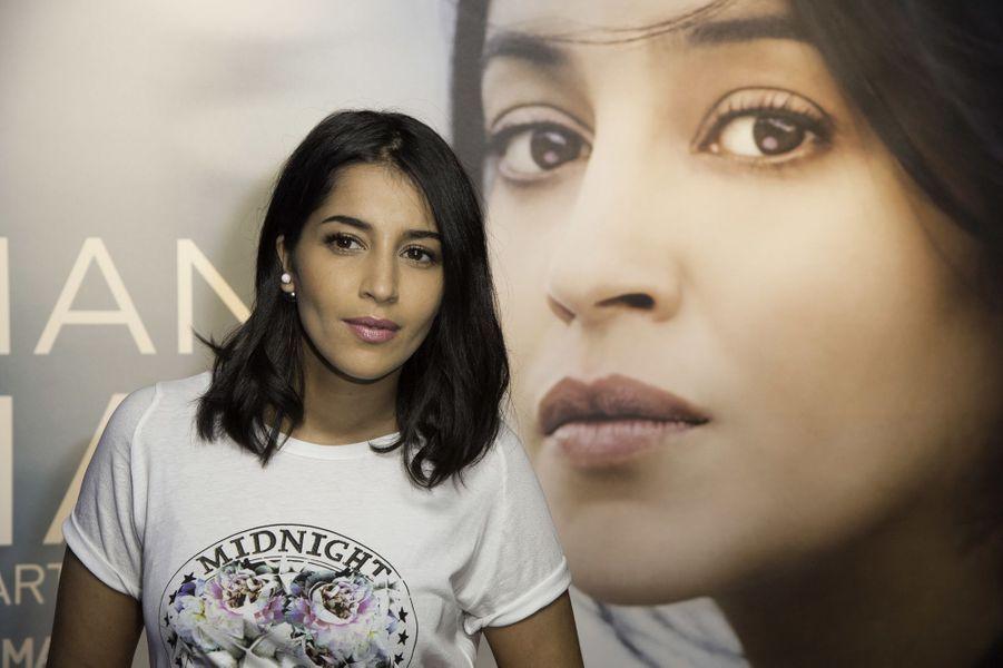 """Leïla Bekhti à la première de """"Maintenant ou Jamais"""" à UGC Paris Bercy le 2 septembre 2014 à Paris."""