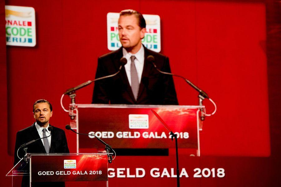 Leonardo DiCaprio au Goed Geld Gala à Amsterdam, mercredi 15 février