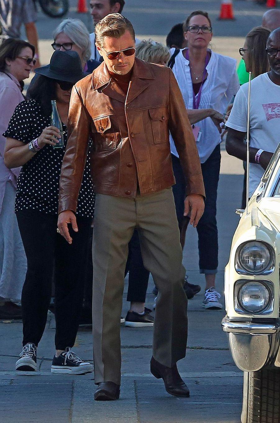 Leonardo DiCaprio en tournage à Los Angeles