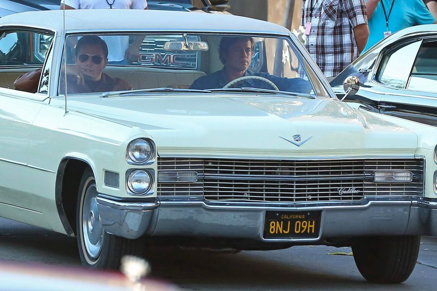 Leonardo DiCaprio et Brad Pitt en tournage à Los Angeles