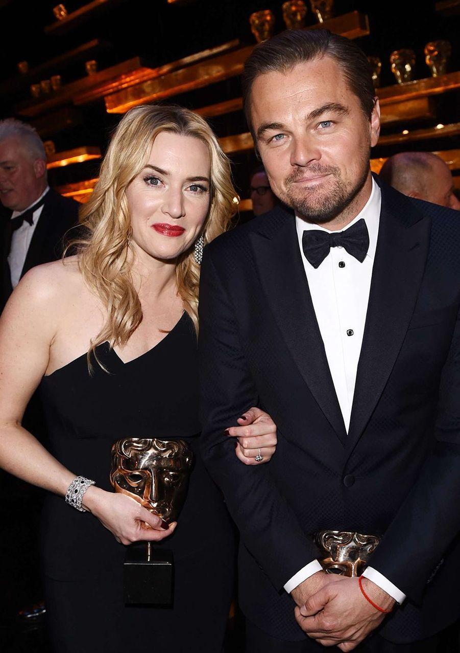 Kate et Leo aux BAFTA 2016, février 2016.
