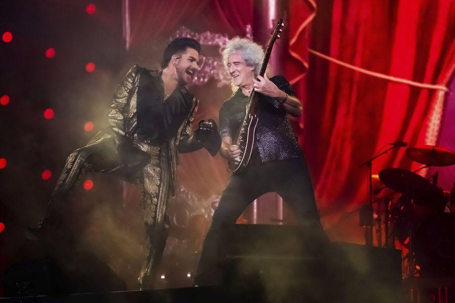 Adam Lambert et Brian Maylors du Global Citizen Festival à New York le 28 septembre 2019
