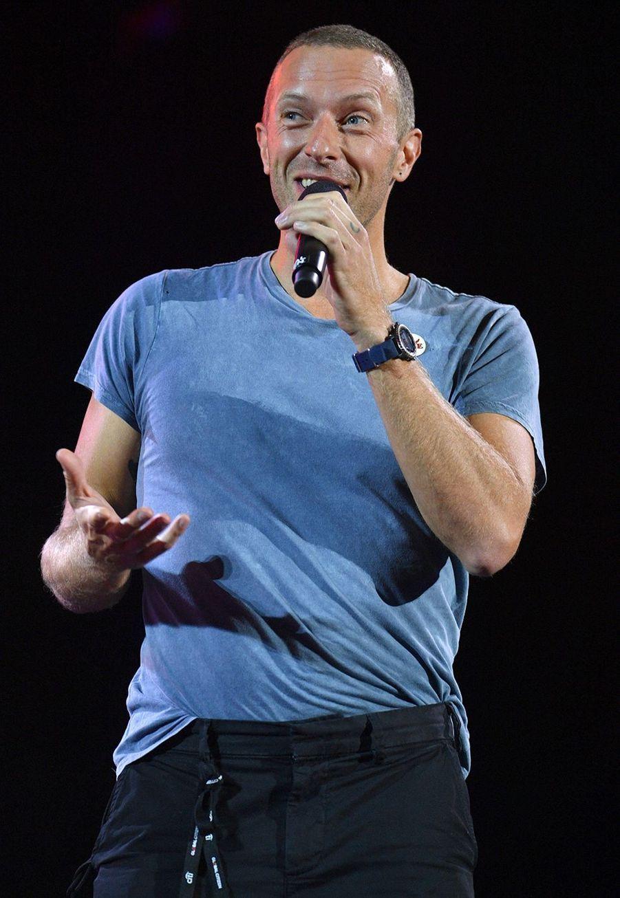 Chris Martinlors du Global Citizen Festival à New York le 28 septembre 2019