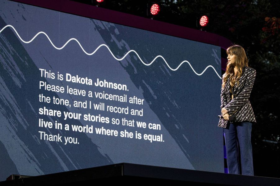 Dakota Johnsonlors du Global Citizen Festival à New York le 28 septembre 2019